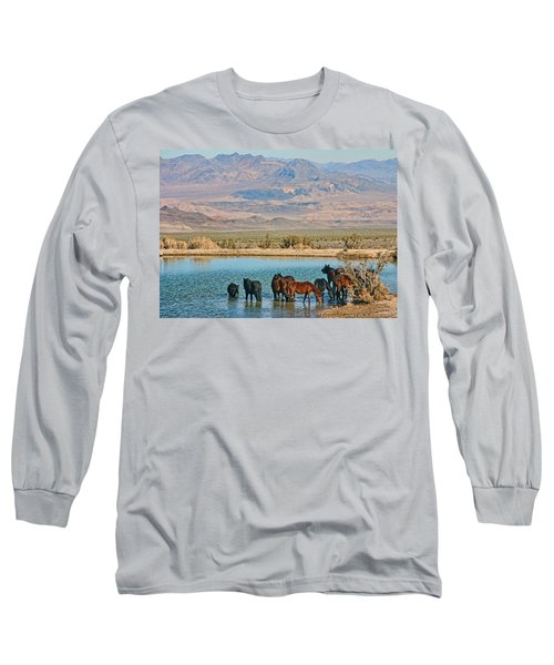 Rest Stop Long Sleeve T-Shirt by Tammy Espino