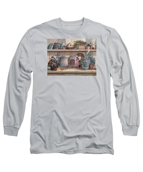Rhapsody In Rose Long Sleeve T-Shirt by Michael Humphries