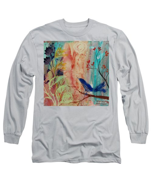 Rhythm And Blues Long Sleeve T-Shirt by Robin Maria Pedrero