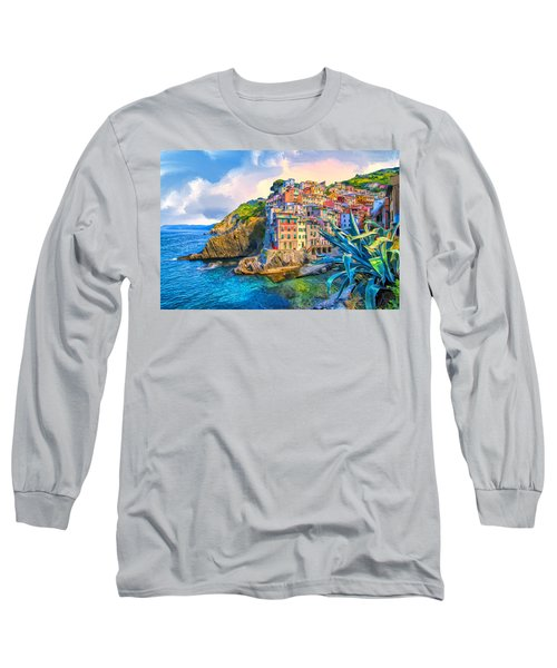 Riomaggiore Morning - Cinque Terre Long Sleeve T-Shirt