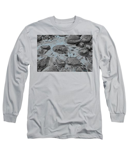 River Ice Blue Long Sleeve T-Shirt by Jeremy Rhoades