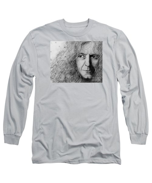Robert Plant Long Sleeve T-Shirt by Patrice Torrillo