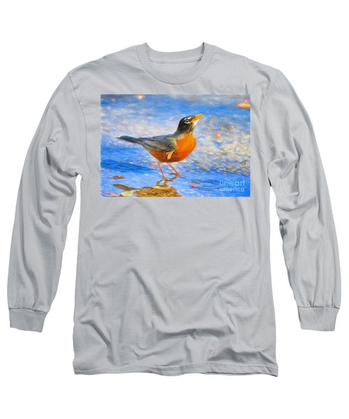 Robin In Florida Long Sleeve T-Shirt