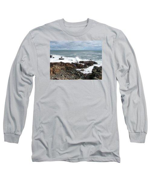 Rocky Coast Long Sleeve T-Shirt by Catherine Gagne