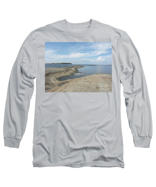 Rocky Coastline In Hamina Long Sleeve T-Shirt