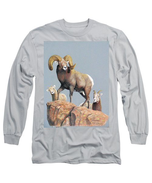 Rocky Mountain Ram Ewe And Lamb Long Sleeve T-Shirt