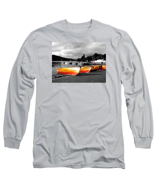 Rowing Boats Ready For Work Long Sleeve T-Shirt