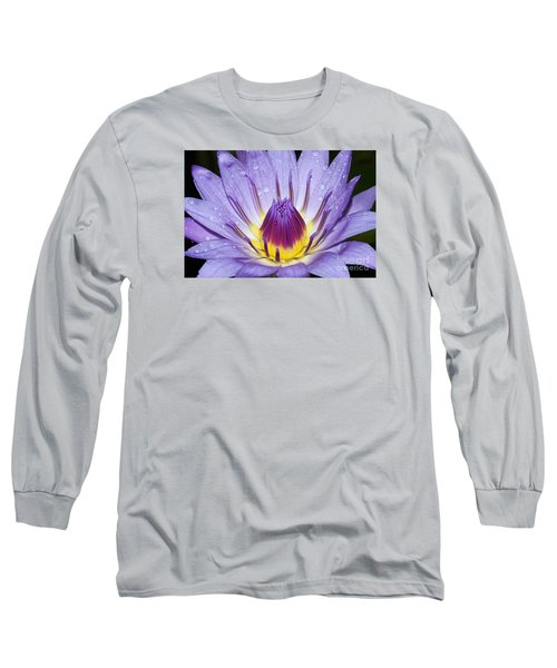 Royal Purple Water Lily #3 Long Sleeve T-Shirt