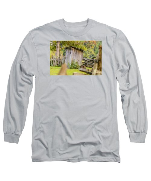 Rustic Fence And Outhouse Long Sleeve T-Shirt
