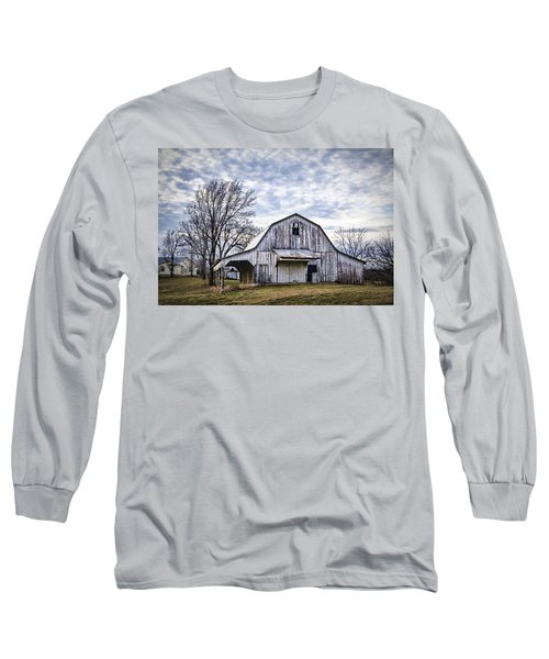 Rustic White Barn Long Sleeve T-Shirt by Cricket Hackmann