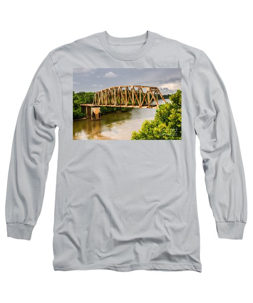 Long Sleeve T-Shirt featuring the photograph Rusty Old Railroad Bridge by Sue Smith