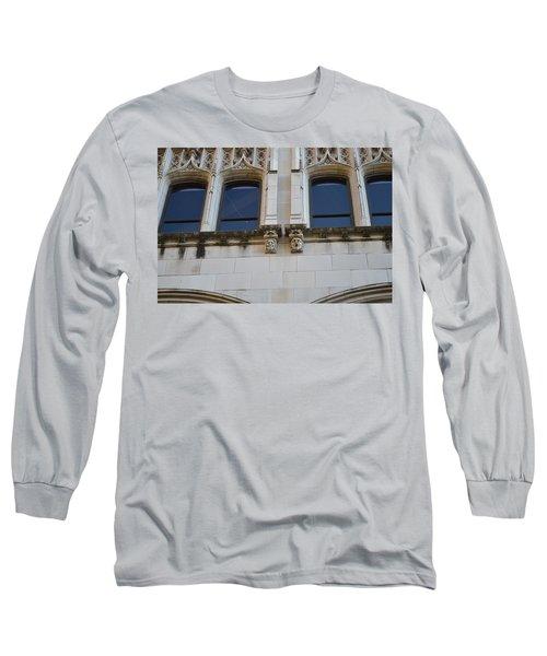 Long Sleeve T-Shirt featuring the photograph Sa Gargoyles  by Shawn Marlow