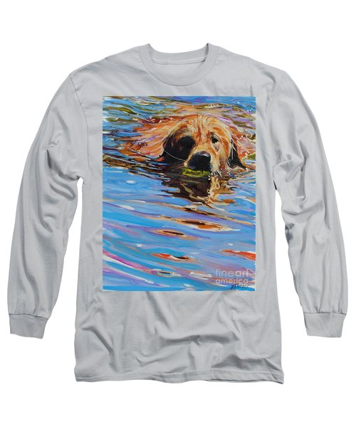 Sadie Has A Ball Long Sleeve T-Shirt by Molly Poole