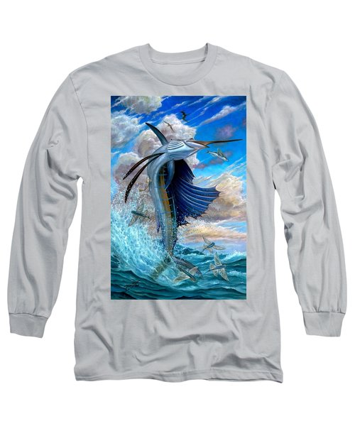Sailfish And Flying Fish Long Sleeve T-Shirt