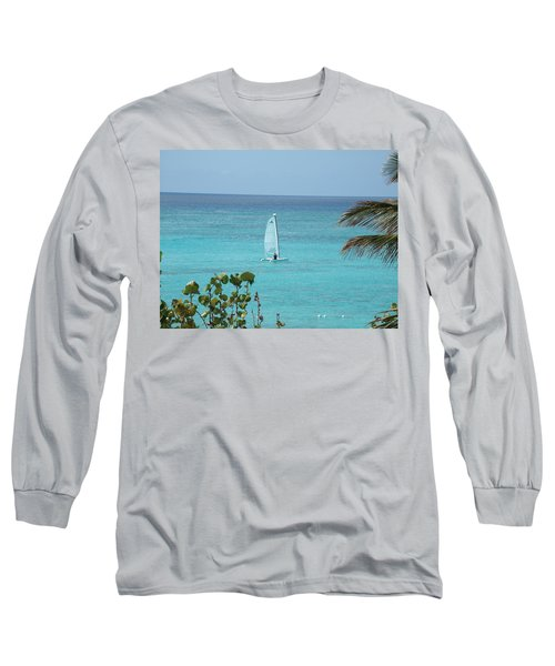Long Sleeve T-Shirt featuring the photograph Sailing by David S Reynolds