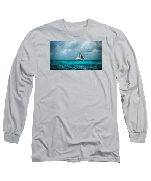 Sailing In Blue Belize Long Sleeve T-Shirt