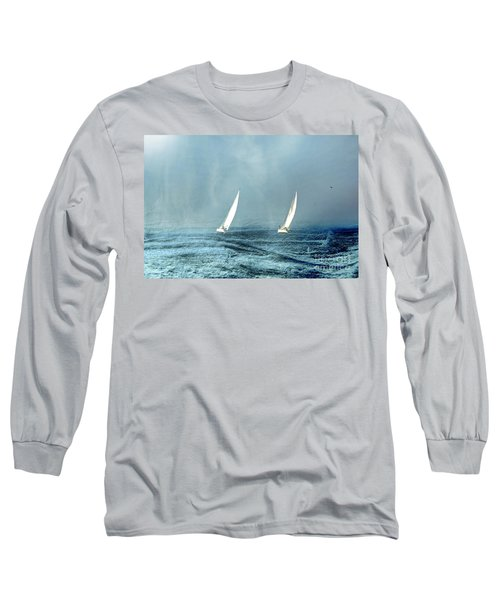 Sailing Into The Unknown Long Sleeve T-Shirt by Andrea Kollo