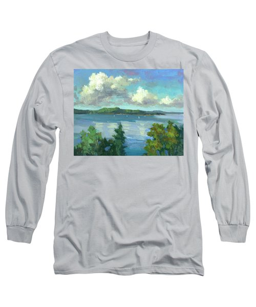 Sailing On Puget Sound Long Sleeve T-Shirt by Diane McClary