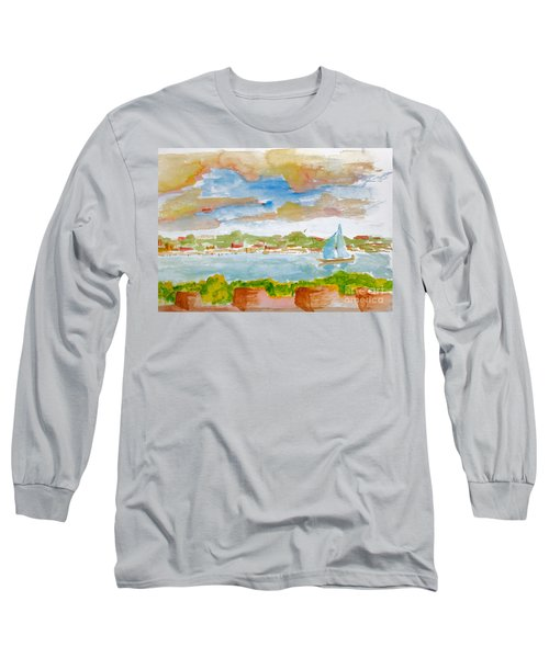 Sailing On The River Long Sleeve T-Shirt