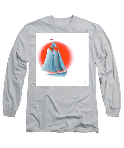 Sailing Red Sun Long Sleeve T-Shirt
