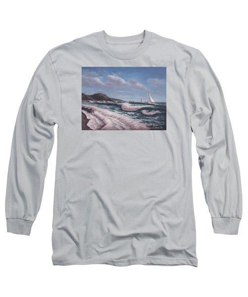 Sailing Toward Point Lobos Long Sleeve T-Shirt