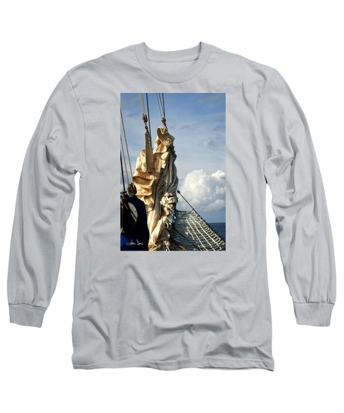 Long Sleeve T-Shirt featuring the photograph Sails by Joan Davis