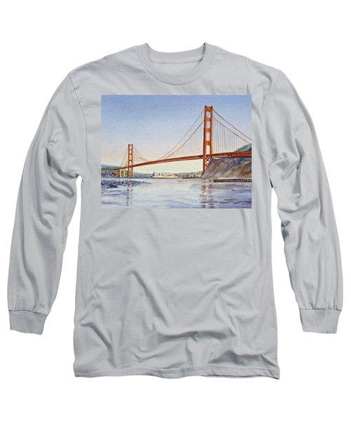 San Francisco California Golden Gate Bridge Long Sleeve T-Shirt
