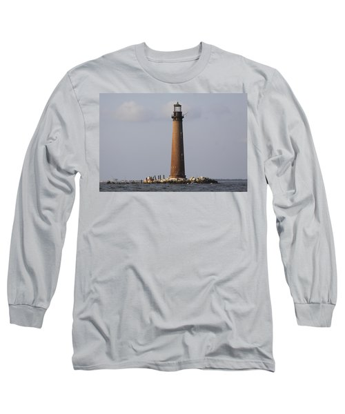 Sand Island Lighthouse - Once 40 Acres Long Sleeve T-Shirt
