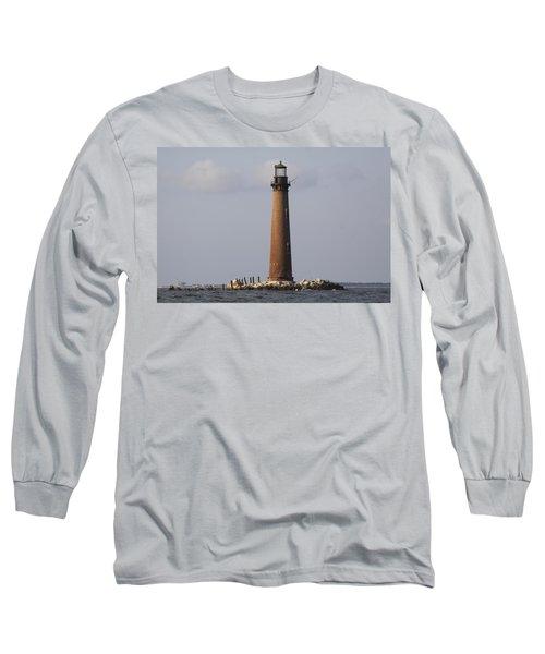 Sand Island Lighthouse - Once 40 Acres Long Sleeve T-Shirt