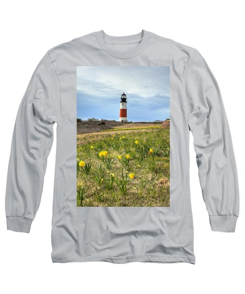 Sankaty Lighthouse Nantucket Long Sleeve T-Shirt