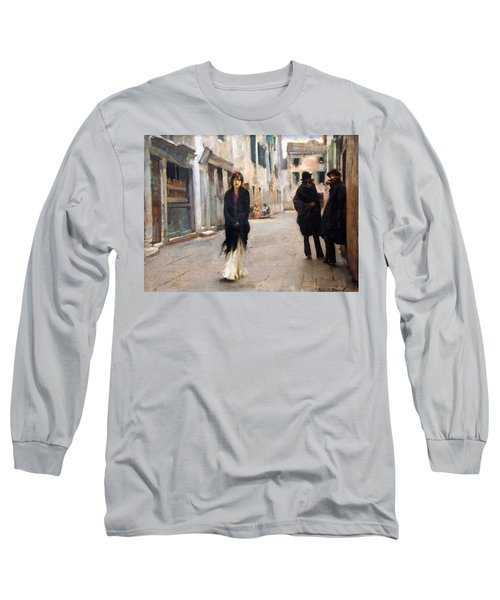 Sargent's Street In Venice Long Sleeve T-Shirt