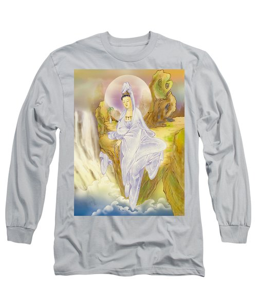 Long Sleeve T-Shirt featuring the photograph Sault-witnessing Kuan Yin by Lanjee Chee