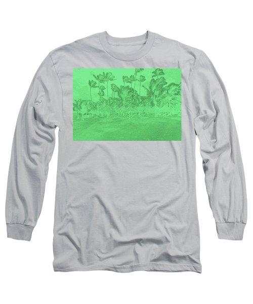 Scene In Green Long Sleeve T-Shirt