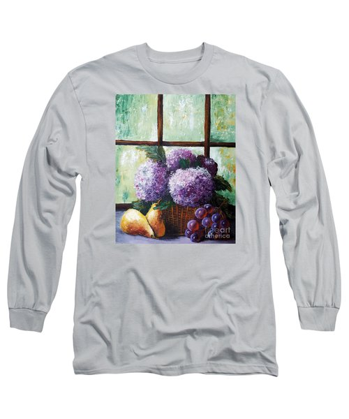 Long Sleeve T-Shirt featuring the painting Scent Of Memories by Vesna Martinjak