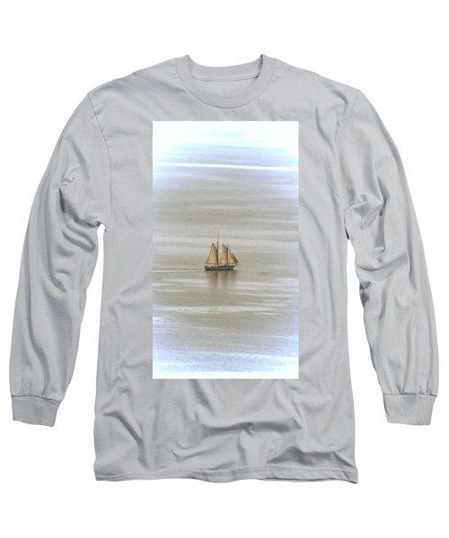 Schooner 1 Long Sleeve T-Shirt by Joe Faherty