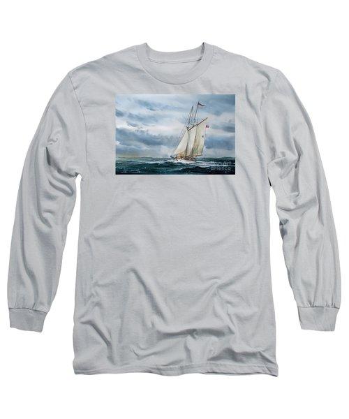 Schooner Adventuress Long Sleeve T-Shirt by James Williamson