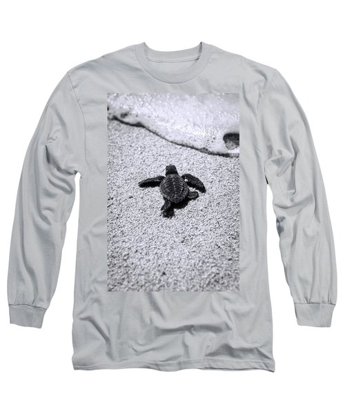 Sea Turtle Long Sleeve T-Shirt by Sebastian Musial