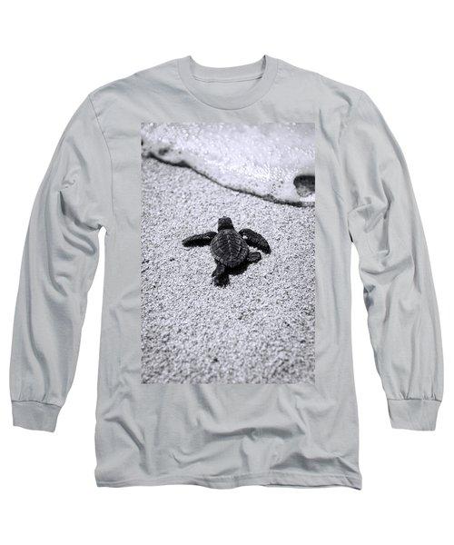 Sea Turtle Long Sleeve T-Shirt by Sebastian Musial