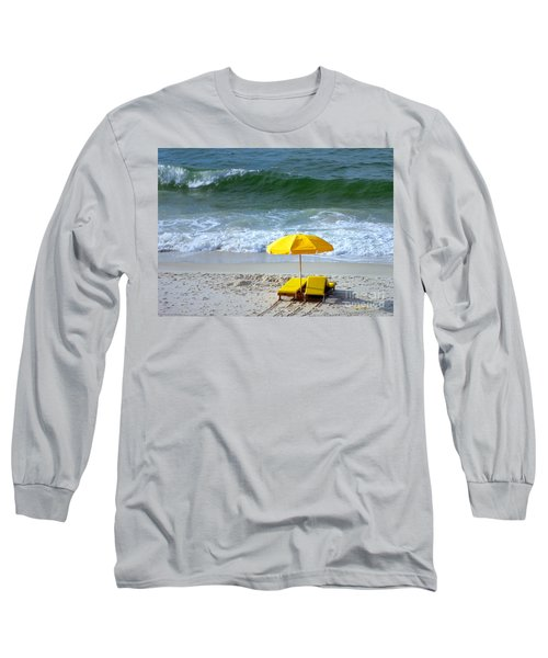 Long Sleeve T-Shirt featuring the photograph By The Sea Waiting For Me by Nava Thompson