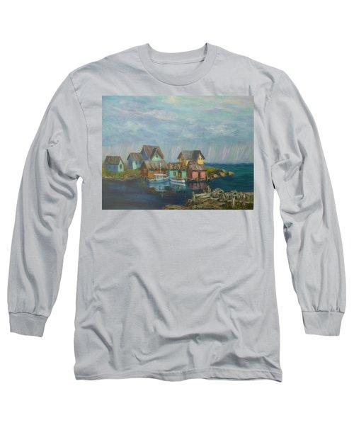 Seascape Boat Paintings Long Sleeve T-Shirt