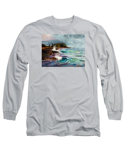 September Storm Lake Superior Long Sleeve T-Shirt by Kathy Braud