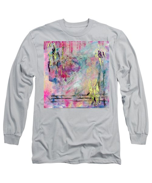 Serene Mist Encaustic Long Sleeve T-Shirt