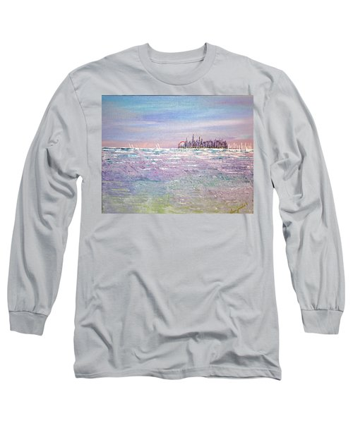 Serenity Sky Long Sleeve T-Shirt by George Riney