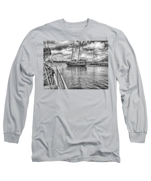 Long Sleeve T-Shirt featuring the photograph Setting Sail by Howard Salmon