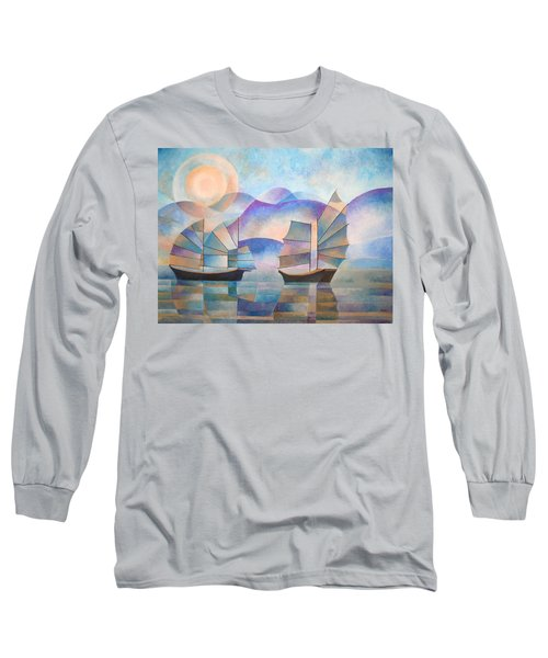 Shades Of Tranquility Long Sleeve T-Shirt