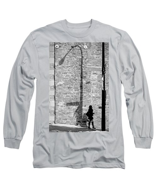 Shadows On St-laurent Long Sleeve T-Shirt by Valerie Rosen