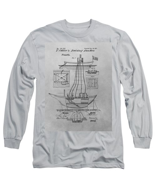 Shipwreck Recovery Patent Drawing Long Sleeve T-Shirt