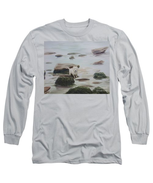Long Sleeve T-Shirt featuring the painting Shirley's Dog by Martin Howard
