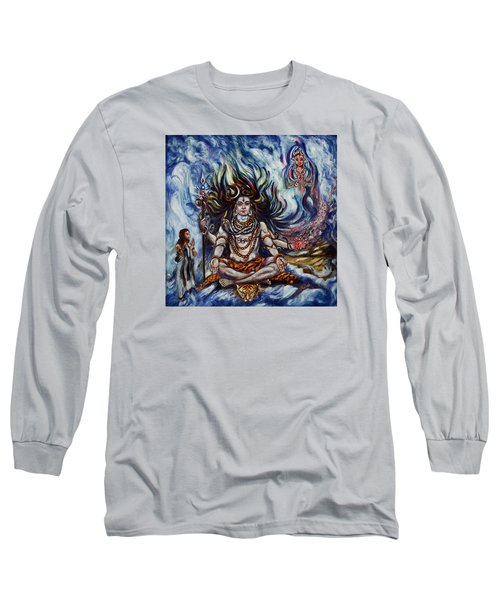 Shiva - Ganga - Harsh Malik Long Sleeve T-Shirt