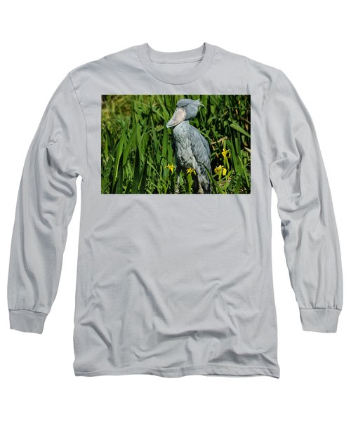 Shoebill Stork Long Sleeve T-Shirt